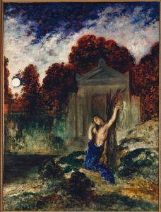 Gustave Moreau,Orpheus am Grab Eurydikes - Gustave Moreau, Orpheus at Eurydice's Gr - Gustave Moreau,Orphee sur la tombe d'Eur